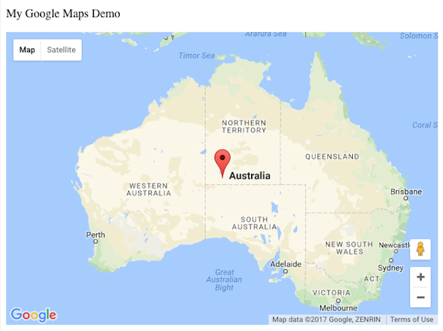 Google Images Map Of Australia.How To Add Google Maps With A Marker To A Website Geeksforgeeks