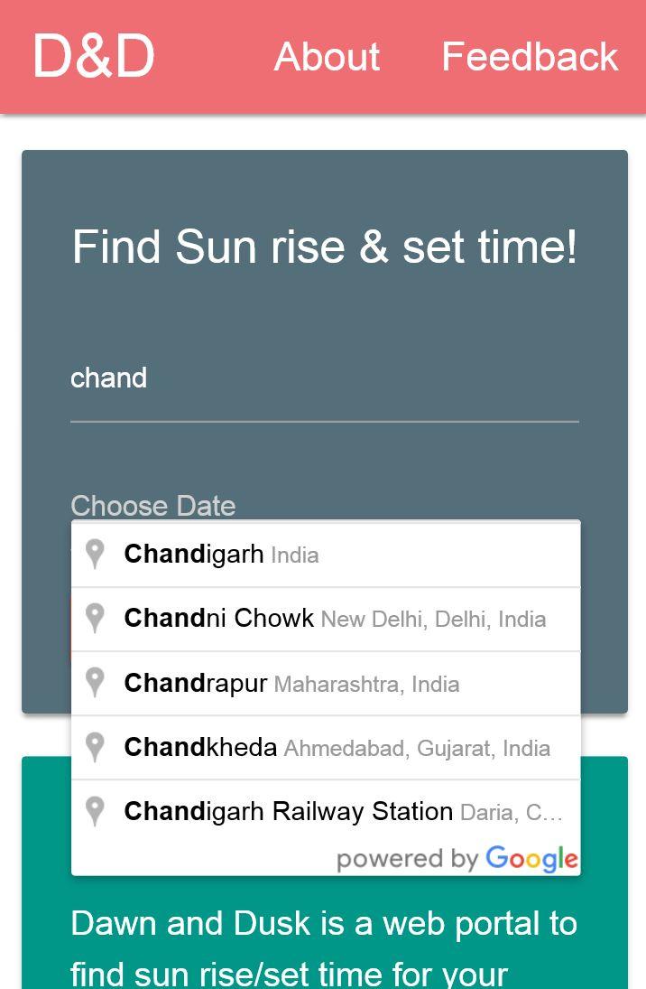 Project Idea | Sun Rise/Set Time Finder - GeeksforGeeks