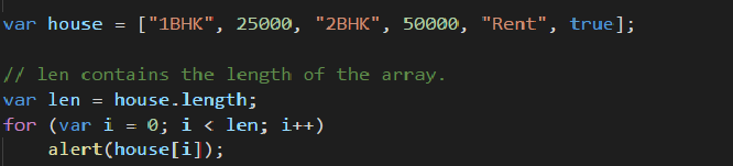 Length Property of Arrays