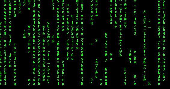 A Falling-Matrix on command line using C++