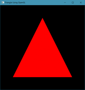 Rendering a Triangle using OpenGL(using Shaders) - GeeksforGeeks