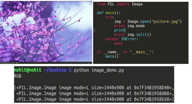 split an image in python